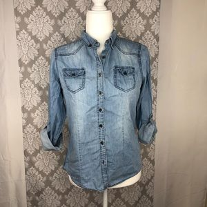 Highway Jeans fitted chambray button up